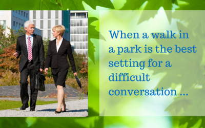 Setting for Difficult Conversations – When a Park is Ideal